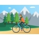 Guy is Riding in Mountains - GraphicRiver Item for Sale