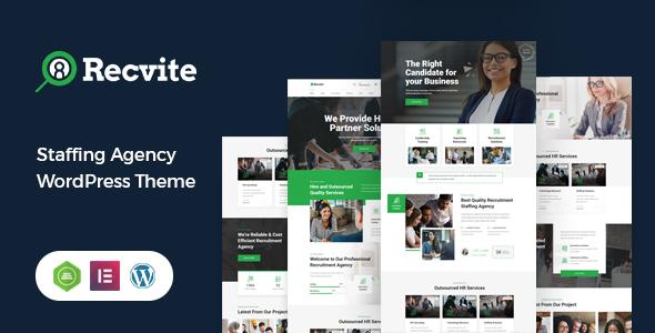 Recvite - Staffing Agency WordPress Theme