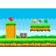 Pixel Game Background with Green Grass Platform - GraphicRiver Item for Sale