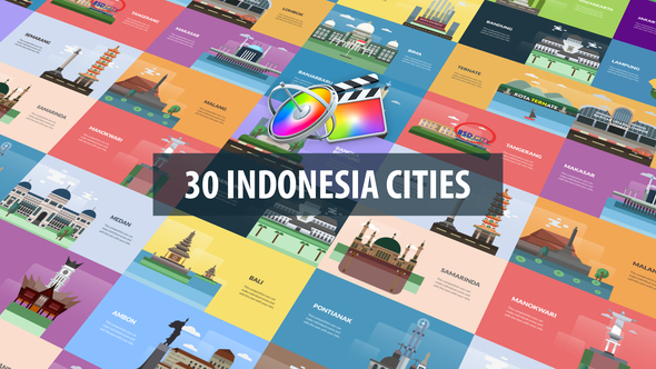 Indonesia Cities Animation   Apple Motion & FCPX
