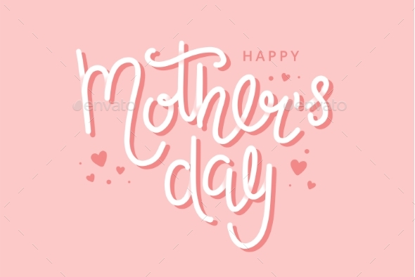 Mother s Day Greeting Card with Hand Drawn