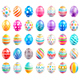 Easter Eggs Color Icons - GraphicRiver Item for Sale