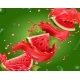 Watermelon Juice on Green Background - GraphicRiver Item for Sale