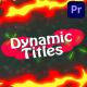 Dynanic Cartoon Titles | Premiere Pro MOGRT