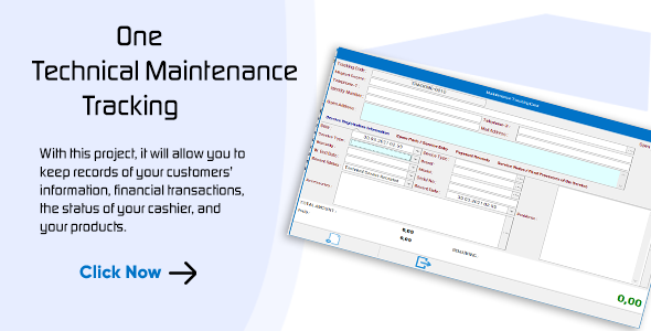 Technical Service Maintenance and Repair Program for Layered Architecture and C# Winforms