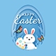 Happy Easter Day Paper Design - GraphicRiver Item for Sale