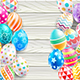 Happy Easter Day Wood Background Design - GraphicRiver Item for Sale
