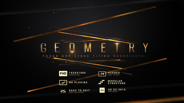 Gemeotry | Shape and Lines Titles Constractor