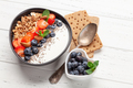 Healthy breakfast with bowl of granola, yogurt and fresh berries - PhotoDune Item for Sale