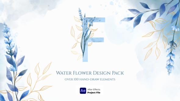 Watercolor Flower Design Pack