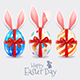 Easter Eggs and Rabbit Ears - GraphicRiver Item for Sale
