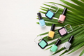 Pastel colors nail polish. Beauty blogger concept - PhotoDune Item for Sale