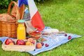 Festive picnic for the national holiday of France 14 July with French flag - PhotoDune Item for Sale