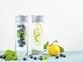 Herbs and fruits flavored infused water. Summer refreshing drink - PhotoDune Item for Sale