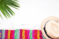 Overhead view to summer accessories. Beach vacation idea - PhotoDune Item for Sale