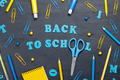 Back to school text with colorful stationary - PhotoDune Item for Sale