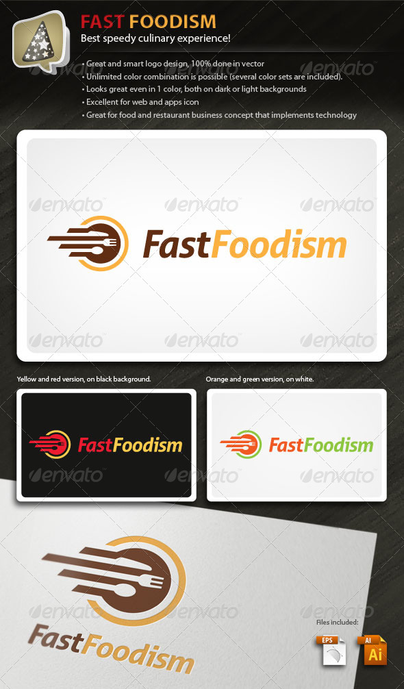 FastFoodism - Logo For Food And Culinary Business