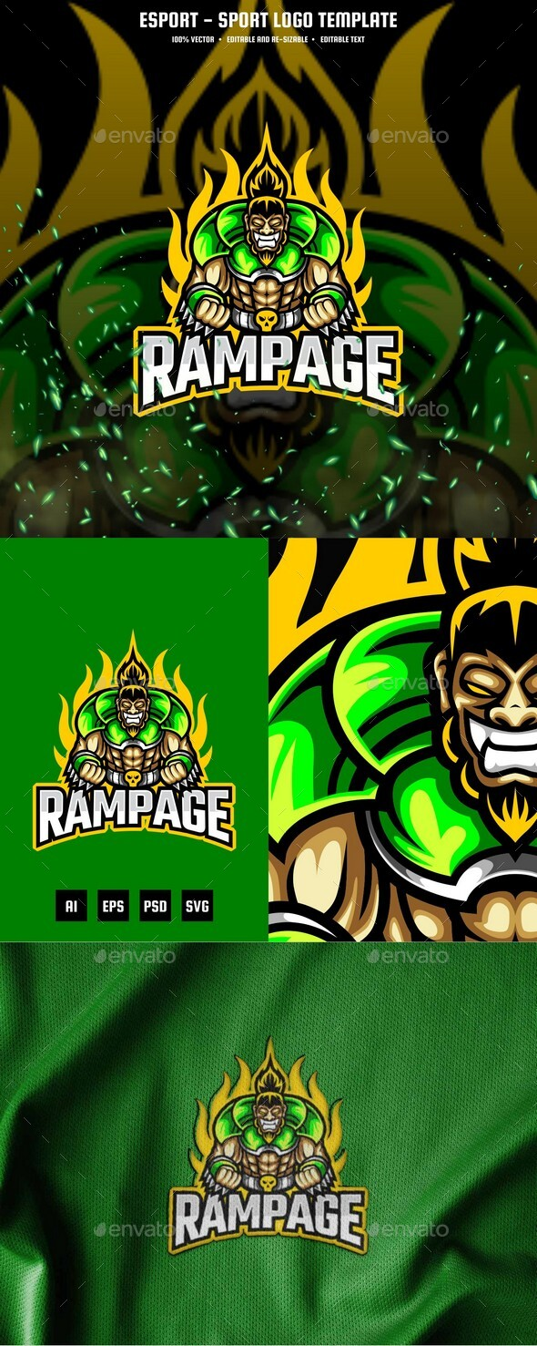 Rampage E-sport and Sport Logo Template