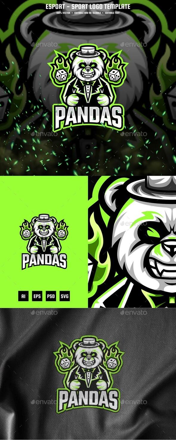 Panda E-sport and Sport Logo Template