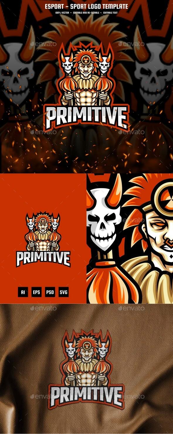 Primitive People E-sport and Sport Logo Template