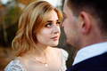 Bride and groom. Close-up. The bride looks at the groom. - PhotoDune Item for Sale