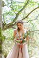 Happy bride in a pink wedding dress. - PhotoDune Item for Sale