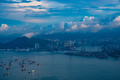 Hong Kong - April 25, 2020: Panorama of Victoria Harbor of Hong Kong city, cityscape with skyscraper - PhotoDune Item for Sale