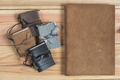 vintage craft Handmade leather book cover - PhotoDune Item for Sale