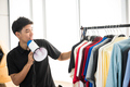 Young men are broadcasting online clothing sales - PhotoDune Item for Sale