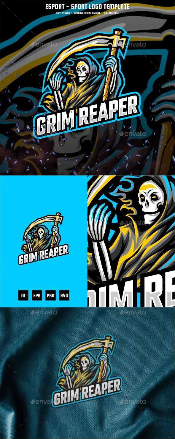 Grim Reapers E-sport and Sport Logo Template