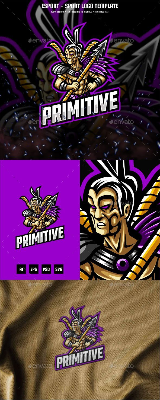 Primitive E-sport and Sport Logo Template