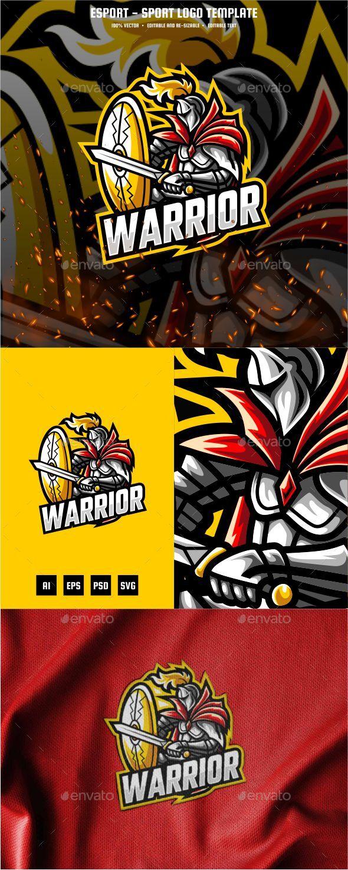 Knight Warrior E-sport and Sport Logo Template