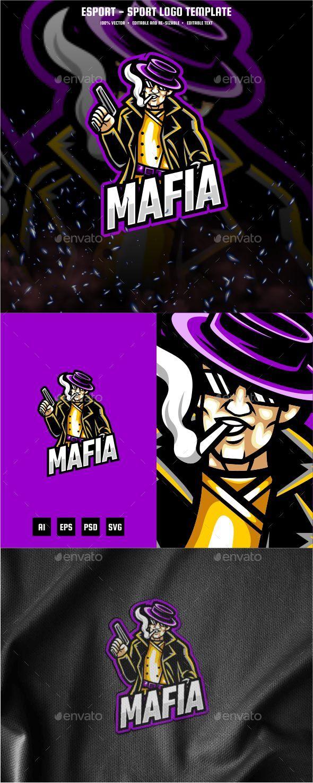 Mafia E-sport and Sport Logo Template