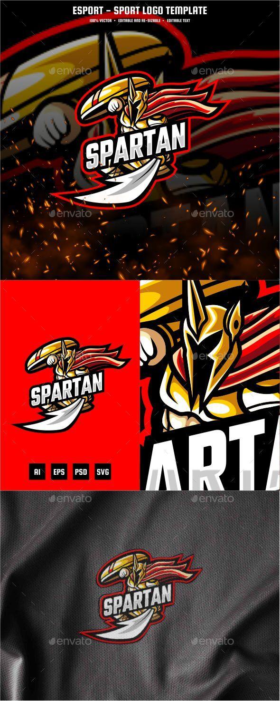 Spartan E-sport and Sport Logo Template