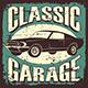 Retro Classic Car Service Sign Poster - GraphicRiver Item for Sale