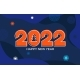 2022 New Year Banner Numbers on Blue Fluid Back - GraphicRiver Item for Sale