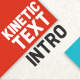 Kinetic Typography Intro - VideoHive Item for Sale
