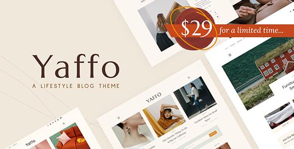 Yaffo - A Lifestyle Personal WordPress Blog Theme