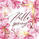 Decorative Frame with Pink Cherry Flowers. - GraphicRiver Item for Sale