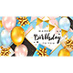 Birthday Balloons and Gift Boxes on Pink and Blue Background - GraphicRiver Item for Sale