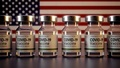 Corona Vaccines / Covid Vaccine Ampules / Vaccination in USA American Flag - PhotoDune Item for Sale
