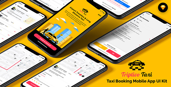 Download TripTivo - Taxi Booking Mobile App UI Kit Nulled