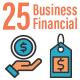 25 Business Financial Flat Line Icons - GraphicRiver Item for Sale