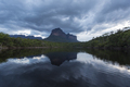 Sunset on the Auyantepui mountain in the Canaima National Park - PhotoDune Item for Sale