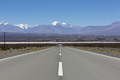 Straight road and Aconcagua mountains, North of Argentina - PhotoDune Item for Sale