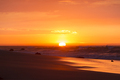 Ocean sunset on the beach and the Pacific Ocean in Mancora, Peru - PhotoDune Item for Sale