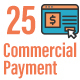 25 Commercial and Payment Flat Line Icons - GraphicRiver Item for Sale