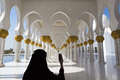 Woman and selfie at Sheikh Zayed Mosque in Abu Dhabi - PhotoDune Item for Sale