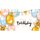 Birthday Balloons and Gift Boxes on White Background - GraphicRiver Item for Sale