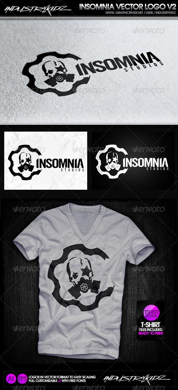 Insomnia Gas Mask Logo